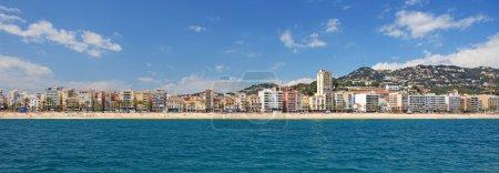 Panoramic view of Lloret de Mar city, Costa Brava, Spain.