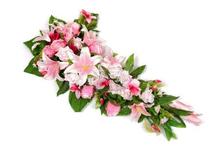Photo pour Composition fleur de mariage isolé sur fond blanc . - image libre de droit