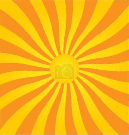 Retro style vector sunburst background.