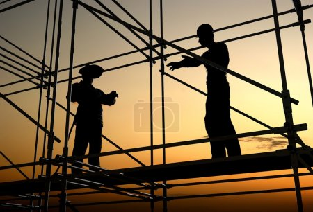 Photo for Group of workers talk among themselves. - Royalty Free Image