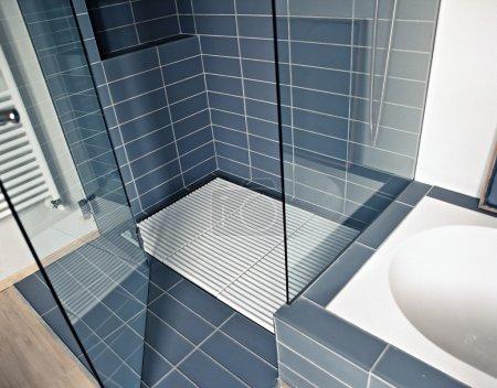 Modern shower cubicle in a modern bathroom