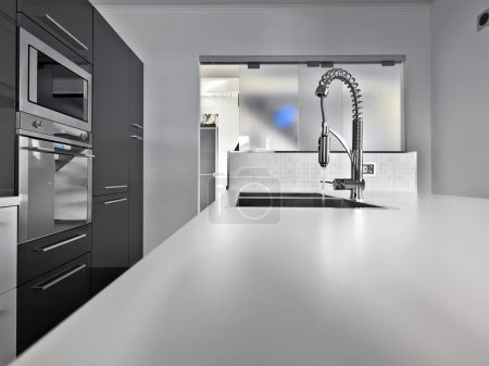 Photo for Modern kitchen high technology with steel appliances - Royalty Free Image