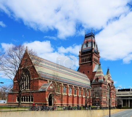 Photo for Memorial Hall at Harvard University in Boston, Massachusetts. Memorial Hall was erected in honor of Harvard graduates who fought for the Union in the American Civil War. - Royalty Free Image