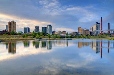 Skyline of Birmingham, Alabama from Railroad Park....