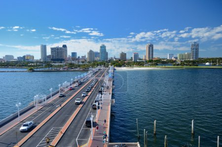 Photo for Skyline of St. Petersburg, Florida from the Pier - Royalty Free Image