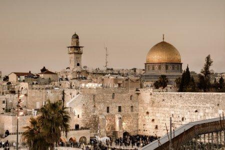 Photo pour Le mur occidental, également connu sous le nom de mur des lamentations ou Kotel, est le vestige de l'ancien mur qui entourait la cour du temple juif à Jérusalem, en Israël - image libre de droit