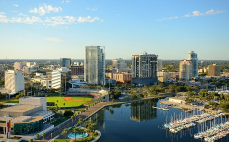 Photo for Skyline of St. Petersburg, Florida - Royalty Free Image