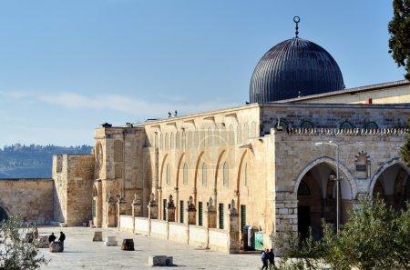 Photo pour Mosquée Al Aqsa à Jérusalem, le 3ème site sacré de l'Islam . - image libre de droit