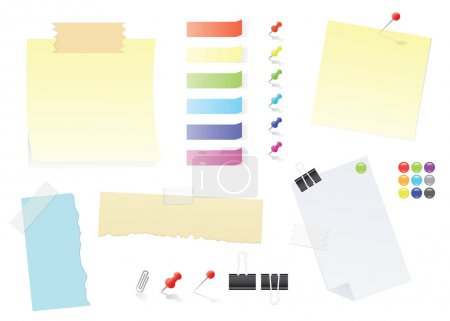 Paper Notes And Post-It Stickers Office Supply Set
