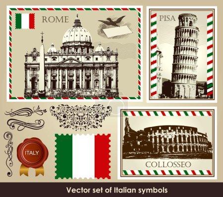 Vector set of Italian symbols
