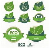 Eco labels with retro vintage design Vector