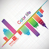 Abstract color background City theme Vector eps 10