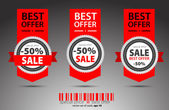 Set of red vector sale tickets