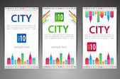 Set of cards City theme Vector eps 10