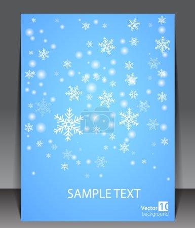 Winter theme blank.