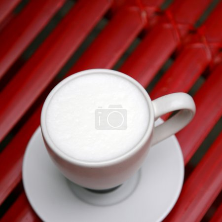 Close up hot milk cup