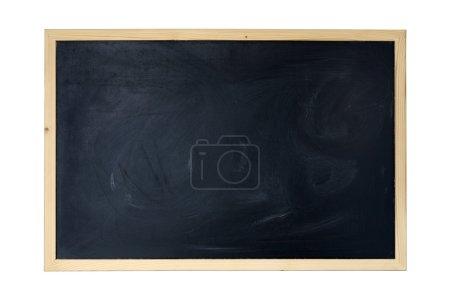 Photo pour Panneau noir avec un cadre en bois - image libre de droit