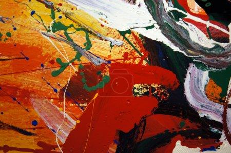 Photo pour Fond abstrait de peinture à l'huile mixte - image libre de droit