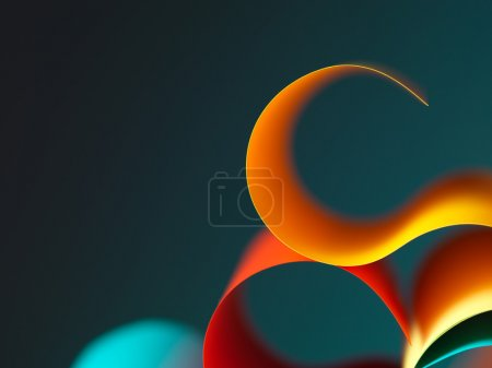 Abstract colored paper structure on grey background