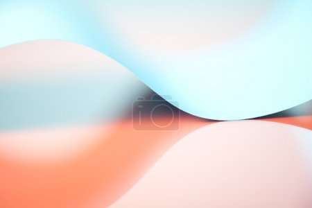 Abstract detail of waved colored paper structure