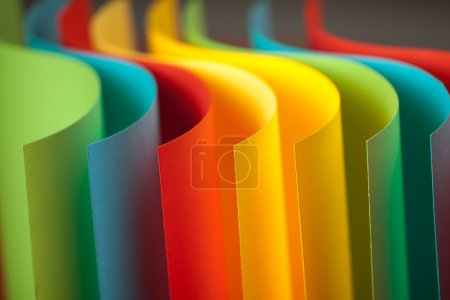 Detail of waved colored paper structure