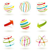 Set of abstract colordul arrow icon Vector illustration