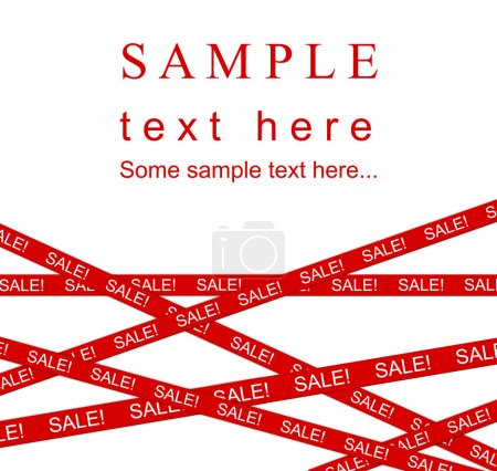 Red SALE ribbon.