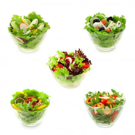 Photo for Collage of vegetable salads - Royalty Free Image