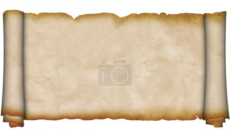 Antique scroll of parchment.