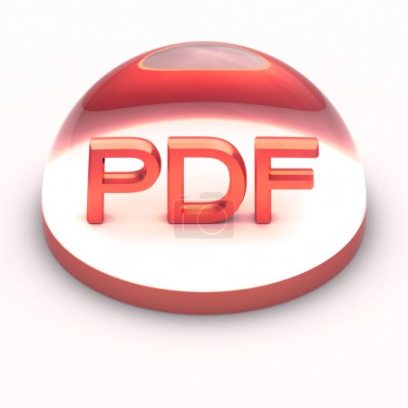 3D Style file format icon - PDF