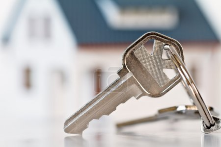 Photo for Key with house on background - Royalty Free Image