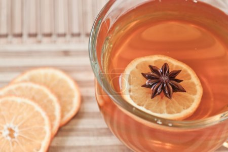 Anise star in hot tea