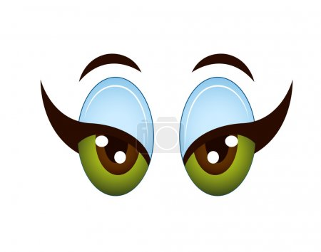 Illustration for Creative Design Art of Cartoon Girl Eye Vector Illustration - Royalty Free Image