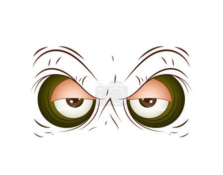Illustration for Conceptual Art Design of Brown Cartoon Eye Vector Illustration - Royalty Free Image