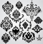 Set of Damask Elements