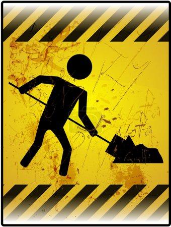Grunge Work In Progress Sign Board