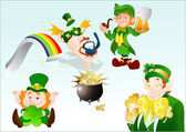 Funny St Patrick's Day Character Vectors