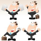 Set of Funny Cartoon Businessmen