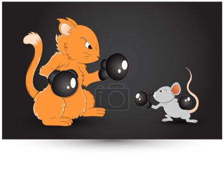 Mouse Fighting Vector