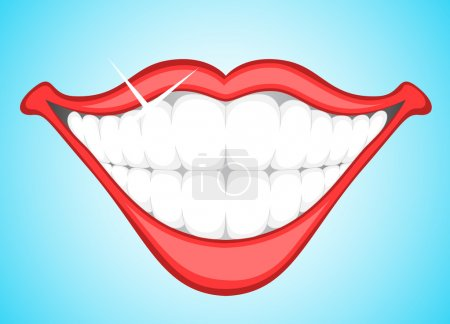 Illustration for Creative Conceptual Decorative Art of Smiling Teeth Clip Art Vector Illustration - Royalty Free Image
