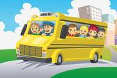 Děti ve školní autobus