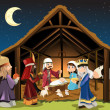 A vector illustration of Christmas concept of the ...