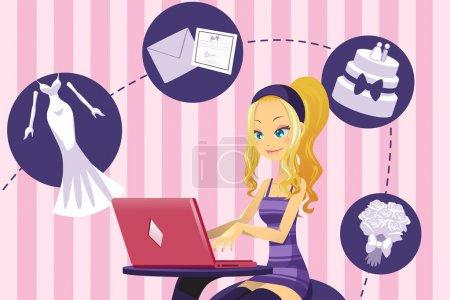 Woman planning for wedding