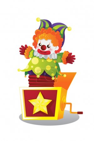 Illustration for A vector illustration of Jack in the box - Royalty Free Image
