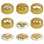 Chinese dim sum icons