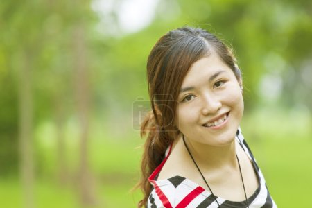 Photo for Asian girl with happy smile - Royalty Free Image