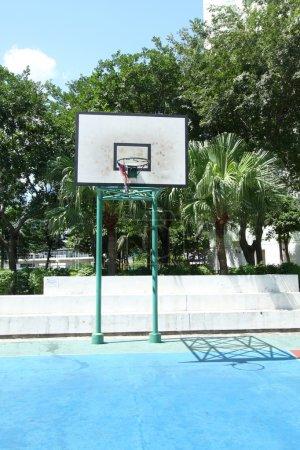 Basketball court in housing estate