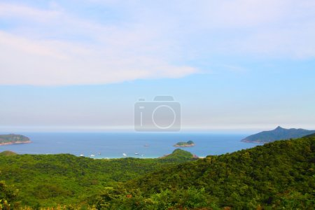 Mountain and coast landscape in Hong Kong