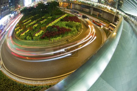 Photo for Roundabout traffic in downtown of Hong Kong - Royalty Free Image