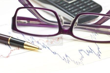Stock charts and financial accounting